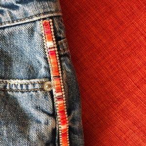 Zara Shorts - ZARA jean skort w embellishment EUC